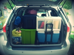 Getting better at packing and loading.