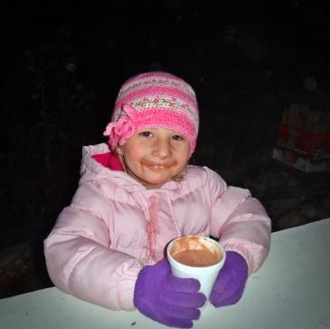 hot chocolate mustache